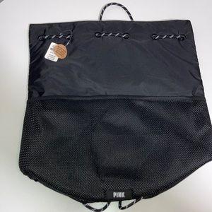 Victoria's Secret PINK Drawstring Backpack Black
